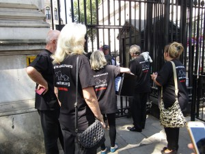 STAE team entering Downing Street