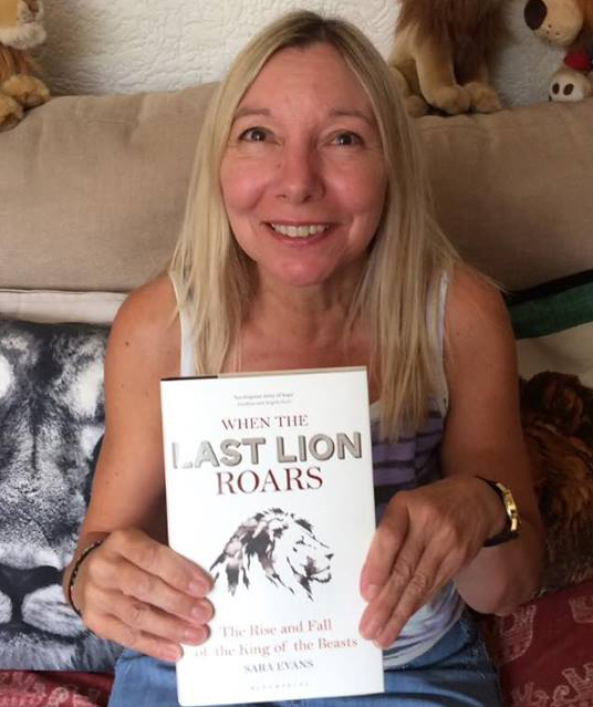 When the Last Lion Roars book competition winner Sue Stuart
