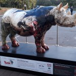 Tusk trust rhino sculpture at Illegal Wildlife Trade conference 2018