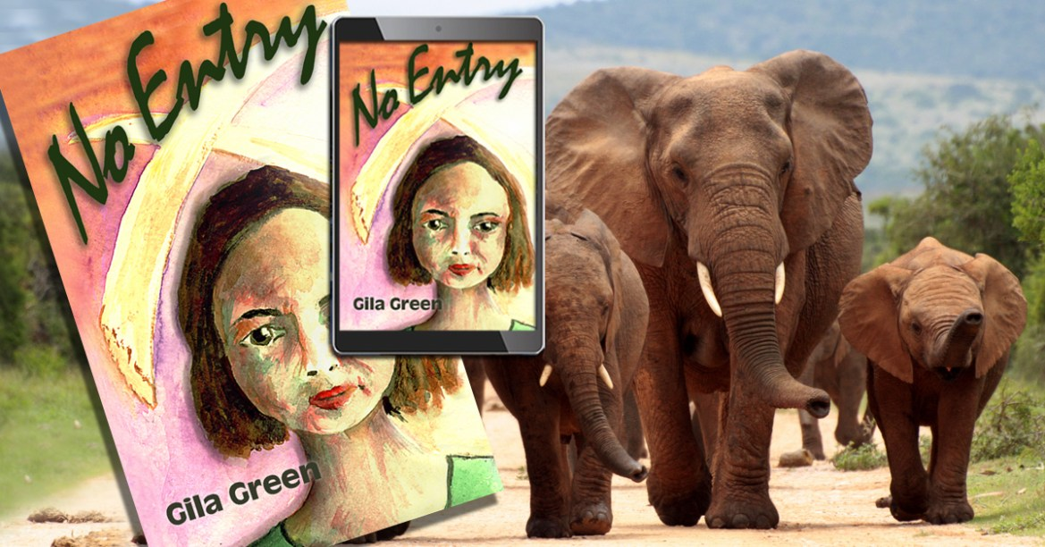 No Entry elephant book and e-book elephant background