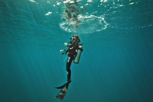 Marine-biologist-and-hammerhead-sharks-expert-Ilena-Zanella-under-the-sea-in-diving-gear