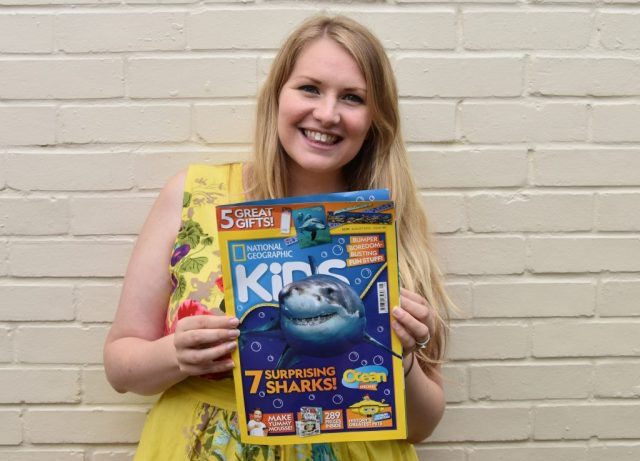 Kate-on-Conservation-holding-Nat-Geo-Kids-Magazine-containing-her-Big-Interview-with-Ilena-Zanella