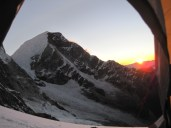 Huascaran Sunset from Chopicalqui High Camp