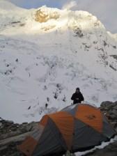 Tocclaraju high camp 2