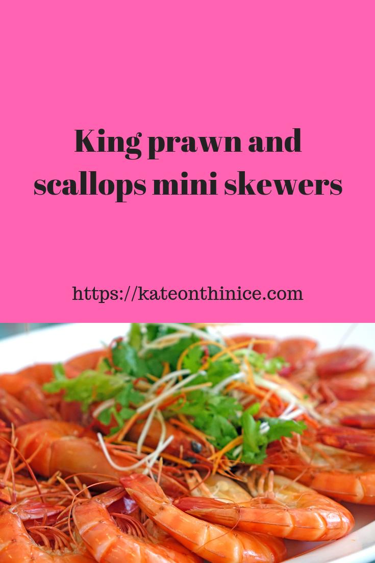 King Prawn and Scallops Mini Skewers