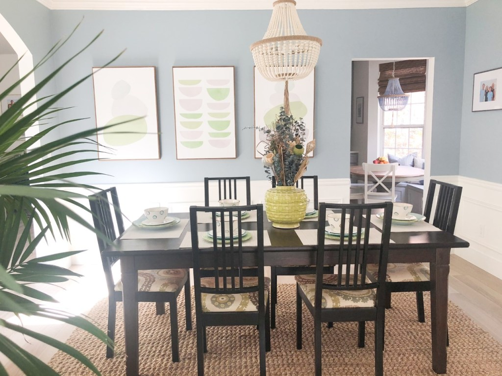 before after photo dining room renovation