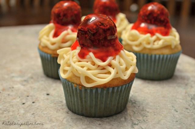 Spaghetti Cupcakes 2