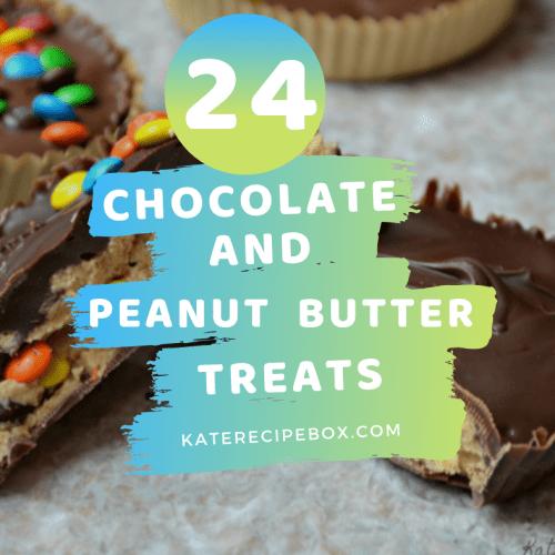 24 Chocolate + Peanut Butter Treats