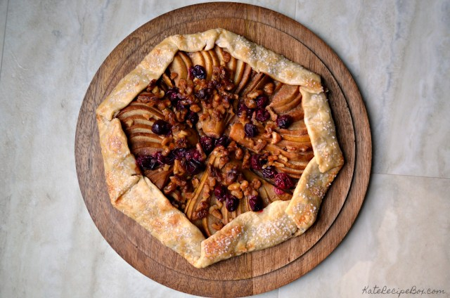 Caramel Cranberry Pear Tart 1