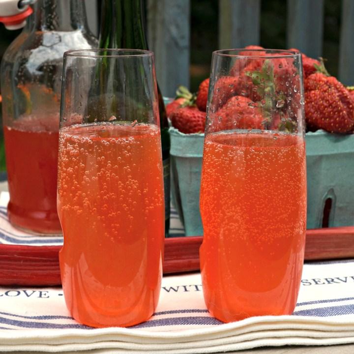 Strawberry Rhubarb Mimosas