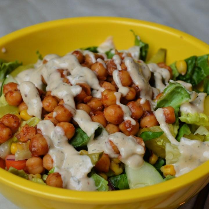 Vegan BBQ Chickpea Salad