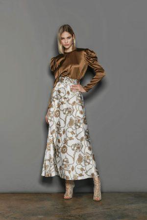 Bronx and Banco chain maxi skirt