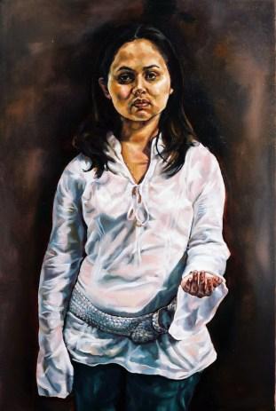 Archaic Portrait (Alison-Lee), 2006, oil on linen