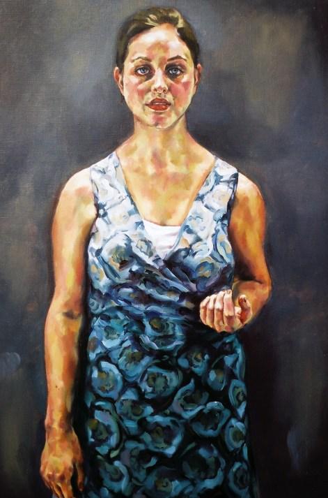 Archaic Portrait (Karla), 2006, oil on linen
