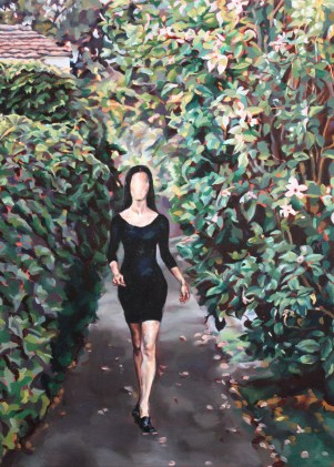 Ruby Street (Woman Without a Face), 2009, oil on linen