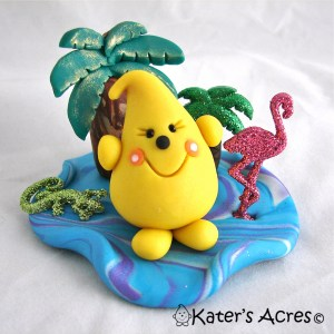 Tropical Parker StoryBook Scene Handmade by KatersAcres