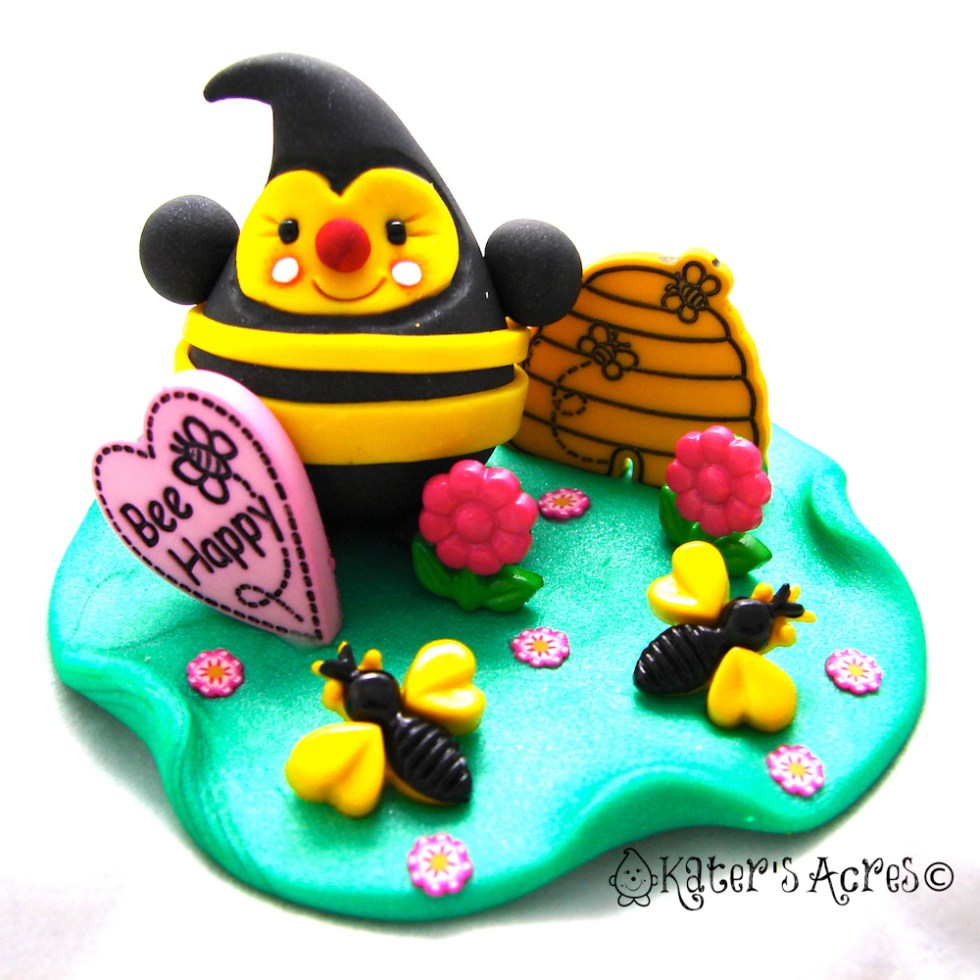 Bumble Bee Limited Edition Parker Polymer Clay Figurine by KatersAcres