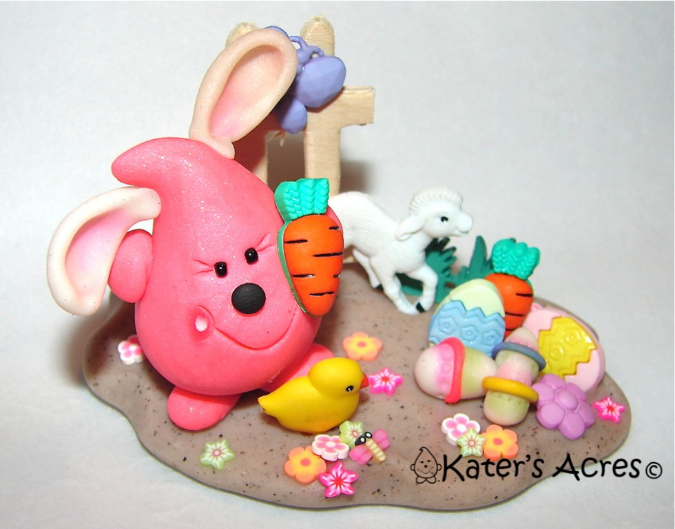 Easter Bunny Parker StoryBook Scene by KatersAcres