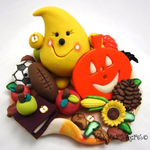 Fall Favorites StoryBook Parker Polymer Clay Limited Edition Figurine by KatersAcres