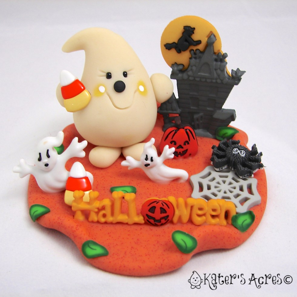 Halloween Celebrations Polymer Clay & Mixed Media Parker StoryBook Scene by KatersAcres