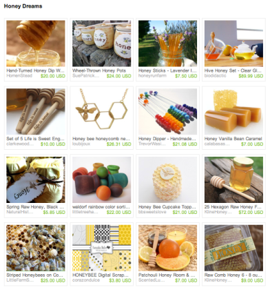 Honey Dreams Etsy Treasury