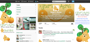 Kater's Acres NEW Twitter Profile Page
