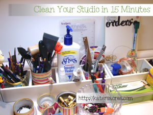 A Guide on How to Clean Your Polymer Clay Studio in Less Than 15 Minutes on KatersAcres Blog