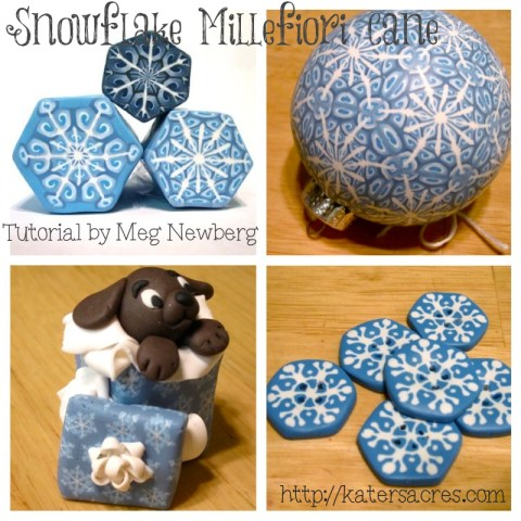 Snowflake Cane Examples by MegNewberg on KatersAcres Blog