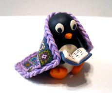 Polymer Clay Penguin Sculpture by Meg Newburg