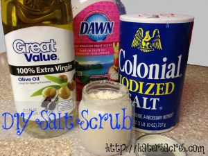 DIY Salt Scrub Recipe for Polymer Clay Artists & Crafters - Less Than $1 per Jar on https://katersacres.com - Repin Now, Make Later