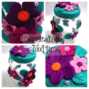 Decorated Baby Food Jar by KatersAcres