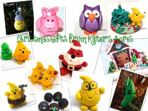 Christmas Gift Ideas from Kater's Acres Handmade Polymer Clay Trinket Shop