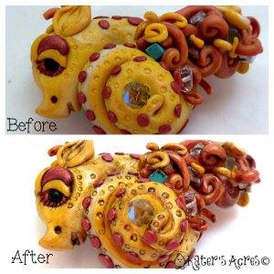 Alfred Patina Before & After Dragon Tutorial by KatersAcres Blog https://katersacres.com
