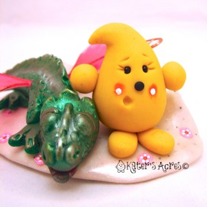 Don't Wake the Dragon Parker StoryBook Scene - Handmade Polymer Clay Sculpture by KatersAcres
