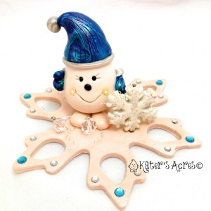 Meet Snowflake Parker StoryBook Figurine by KatersAcres https://katersacres.etsy.com