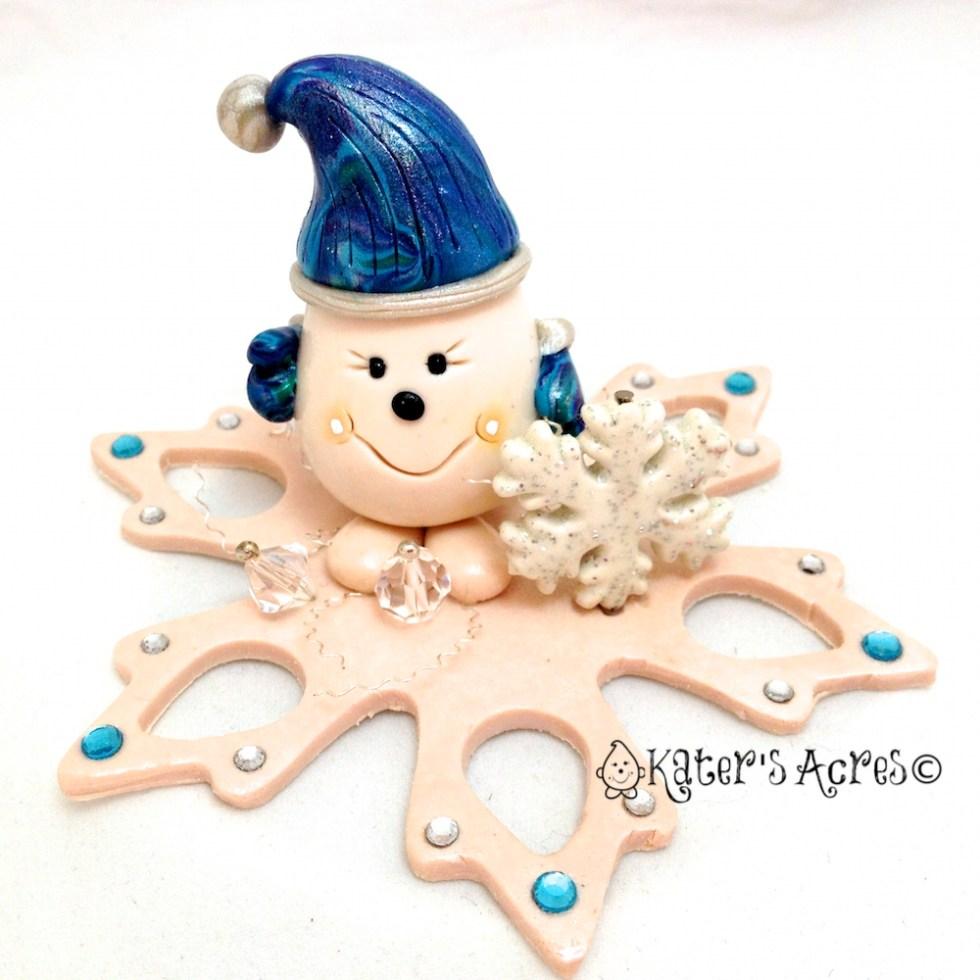 Meet Snowflake Parker StoryBook Figurine by KatersAcres http://katersacres.etsy.com