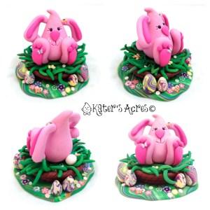 Easter Bunny Parker StoryBook Scene Figurine by KatersAcres