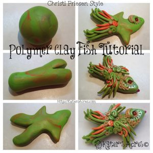 How to Make a Polymer Clay FIsh Tutorial for the Friesen Project of 2013 on KatersAcres Polymer Blog