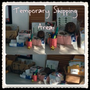 KatersAcres Polymer Clay Studio - Temporary Shipping Area