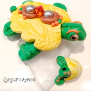 Make Your Own Christi Friesen Style Polymer Clay Turtle Tutorial by KatersAcres