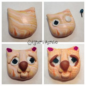 How to Make a Polymer Clay Kitty Cat Bead Tutorial by KatersAcres