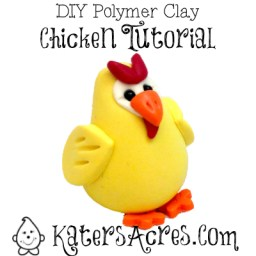 DIY Polymer Clay Chicken Figurine by KatersAcres