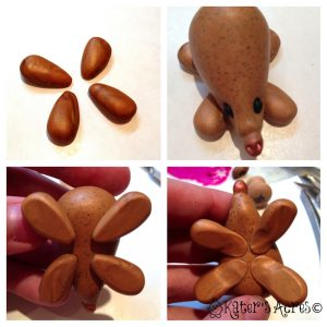 Polymer Clay Echidna Tutorial - Add the Feet to Your Polymer Clay Animal