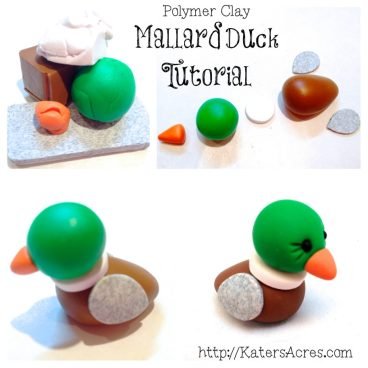Polymer Clay Mallard Duck Tutorial by KatersAcres