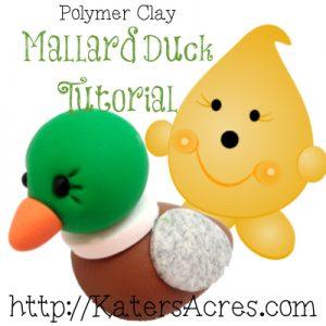 Polymer Clay Mallard Duck Tutorial by KatersAcres