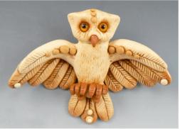 Polymer Clay Owl by Christi Friesen