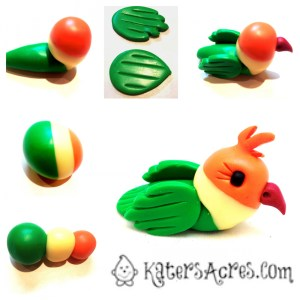 Love Birds Tutorial by KatersAcres | For polymer clay, fondant, gum paste, sugar paste, and other sculpting mediums