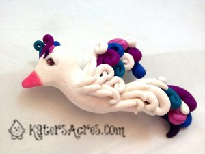 Fancy Sculpted Bird by KatersAcres for the Friesen Project of 2013 on KatersAcres blog