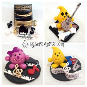 Music Inspiration Creations by KatersAcres | Polymer Clay StoryBook Scenes featuring Parker & Lolly