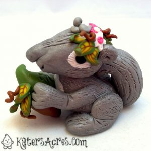 Polymer Clay Woodland Squirrel by Katie Oskin of KatersAcres for the Friesen Project of 2013